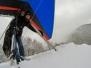 Abgleiter im Schnee
